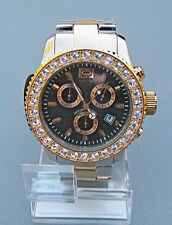 "NEW MARC ECKO MEN'S ""The Gold Masterpiece"" THREE EYE CHRONOGRAPH Watch E20001G1"