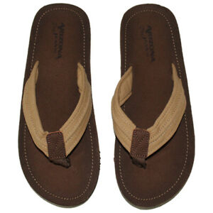 Arizona Men's Flip Flops Canvas Sandals With Style & Comfort Arch Support