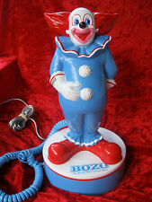 VINTAGE ORIGINAL 1988 BOZO THE CLOWN TELEPHONE IN ORIGINAL BOX TESTED & WORKS