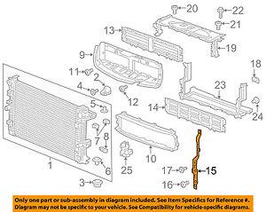 Buick GM OEM 17-18 Envision 2.5L-L4 Radiator-Bracket Right 22864687