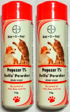 Lot of 2 Bayer Bolfo Anti Tick & Flea Powder For Dogs & Cats 75 gm Each