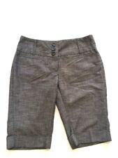 Women's Tracy Evans Casual Shorts Capri Grey Size 7