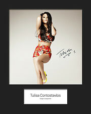 TULISA #1 10x8 SIGNED Mounted Photo Print - FREE DELIVERY