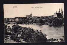 112617 AK Brzeg Brieg 1910 Panorama Blick auf die Stadt