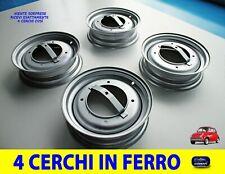 Cerchi Fiat 500 Epoca Cerchioni in Ferro Ruote Set da 4 Cerchio Vecchia auto per
