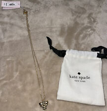 Kate Spade Gold Plated Picnic Perfect Pave Bee Mini Pendant Necklace New