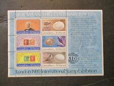 St. Vincent 1980 London stamp expo lot of 6 w/6v each MNH OG