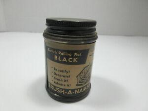 vintage Brush-A-Namel NYBCO New York Bronze Powder Co. paint glass jar bottle