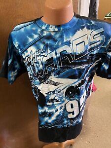 Carl Edwards # 99  Nascar 2013 Black Total Print Fastenal Men's Shirt Medium