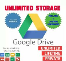 UNLIMITED STORAGE GOOGLE DRIVE ACCOUNT [CUSTOM USERNAME] [NOT .EDU] [LIFETIME]