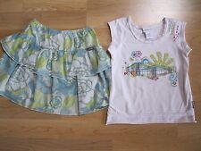 Naartjie Sun Applique Tee and matching Ruffled Skirt Summer of 2009 size 4