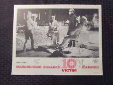 1965 THE 10TH VICTIM 14x11 Lobby Card VG/FN 5.0 Mastroianni, Ursula Andress