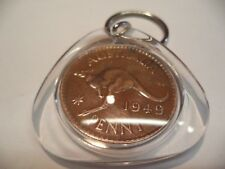 1949 Penny Coin Key Ring in Capsule  70 th Birth Year