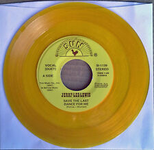 JERRY LEE LEWIS - SAVE THE LAST DANCE FOR ME - SUN 45 -  GOLD VINYL - 1978