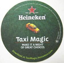 HEINEKEN TAXI MAGIC Beer COASTER, Mat with CAR, NETHERLANDS