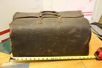 Antique Cowhide Leather Medical Doctor Doctors Medicine Bag Suitcase Case