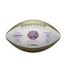 LSU Tigers CFP College 2019 National Champions Metallic Commemorative Football