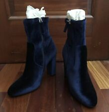 Steve Madden Ankle Booties Navy Blue Velvet, Women Size 8