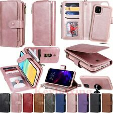 For iPhone 11 Pro Max X XR 6s 7 8 Detachable Magnetic Leather Wallet Case Cover