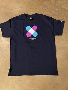 Amazon vaccinated shirt, heavy cotton, dark blue, Adult Large