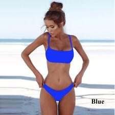 Summer Sexy Solid  Bikini Set  UnPadded Bra Swimsuit Triangle Bather Suit NEW