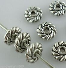 60pcs Tibetan silver Daisy Flower Loose Spacer Beads 6mm