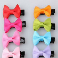 10Pcs Toddler cute Girl Hair Clip Ribbon Bow Baby Kids Satin Bowknot Headband d