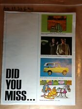 Vintage Chevrolet Did You Miss....1970 Highlights Chevy 70 Sales Brochure