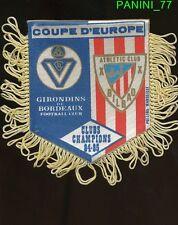 PETIT FANION 10*9 CM GIRONDINS BORDEAUX Vs ATHLETIC CLUB CHAMPIONS CLUBS 1985