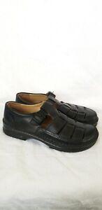 Birkenstock Footprints Madeira Fisherman Balck Sandals Men's Size Euro 45 /US 12