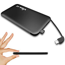 Power Bank Portable Battery Charger Credit Card sized For Mobile Phone BLACK UK