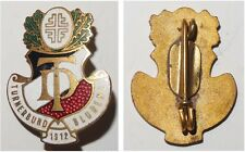 Emaillierte Broschen-Anstecknadel DT Turnerbund Bludenz 1912