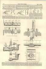 1896 Waterpower Small Fall Turbines Foyers Brantham Mills Chauxdefonds
