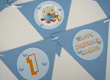 1 x Giggle and Hoot 'Hoot' 12 flag Personalised Party Bunting
