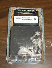 40k Rare oop vintage Metal Space Marines Salamanders Chapter Chaplain Xavier NIB