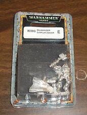 40k Rare oop Vintage Blister Metal Space Marine Salamanders Chaplain Xavier NIB