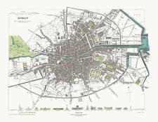Dublin, Ireland in 1836 SDUK town plan