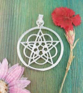 Pentacle w/ Five Interlocking Circles Infinity Pendant Wiccan Pagan Witch wh141