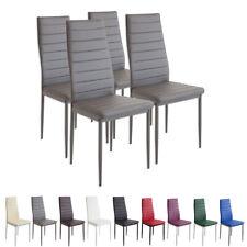 4 x Esszimmerstühle MILANO - grau - Esszimmerstuhl Küchenstuhl Stuhl Stühle