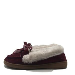 Jessica Simpson Womens Micro Suede Moccasin Indoor Outdoor Slipper  Size 7-8 M