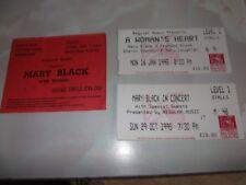 MARY BLACK - EDINBURGH CONCERT TICKETS x 3 (1993 + 1995).