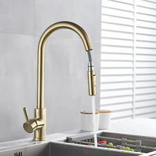 Lead Free Pull Down Sprayer Kitchen Sink Faucet Stainless Steel Single Handle