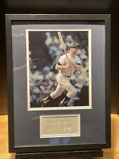 Mickey Mantle Signed Auto Autographed 12x16 Framed Photo & Cut JSA LOA Yankees