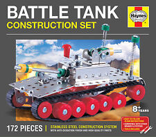 BATTLE TANK CONSTRUCTION SET 172 PIECES HAYNES STAINLESS STEEL