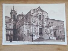 VINTAGE POSTCARD - CALTAGIRONE - SICILY - ITALY - CHIESA S. FRANCESCO D'ASSISI