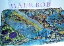 Rare HALE BOB 100% Silk CELEBRITY Designer Scarf Metallic BOHO Fashion HOLIDAY