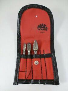 "MAC TOOLS CB4S 1/4"" SHAFT MOUNT CARBIDE BURR SET NEW"