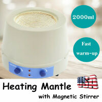 2000ml Heating Mantle with Magnetic Stirrer Speed 0-1600rpm 450℃ Max 450W 110V