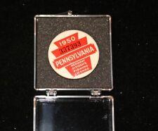 Vintage 1950 Pennsylvania Resident Citizens Fishing License Badge