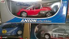 ANSON 1/18 Renault Sport Spider Cabriolet Open Rouge  neuf boite